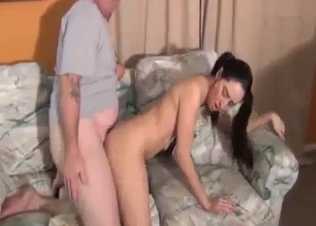 Skinny young cousin enjoys dirty doggy style sex