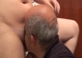 Grandpa enjoys his first oral sex with a granddaughter