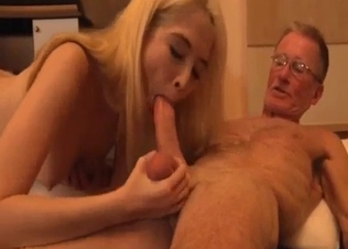 Filthy as hell granddad drills his slutty granddaughter