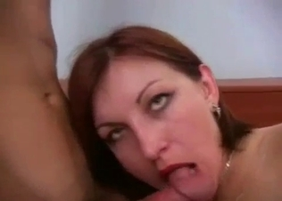 Slutty sister wants me to cum in her wide-opened mouth