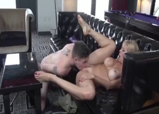 Godlike big-tit stepmom performs a passionate blowjob