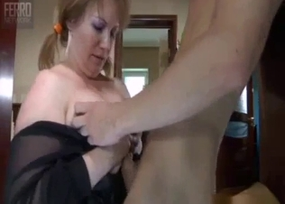 Big-boobed mom slut likes filthy incest sex
